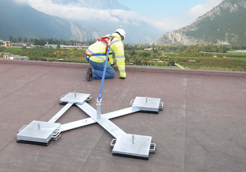 Weightanka® Is A Non Penetrating, Portable, Deadweight Anchor Device  Designed For Use On Roofs With Up To A 5 Degree Pitch For Temporary Or  Permanent ...
